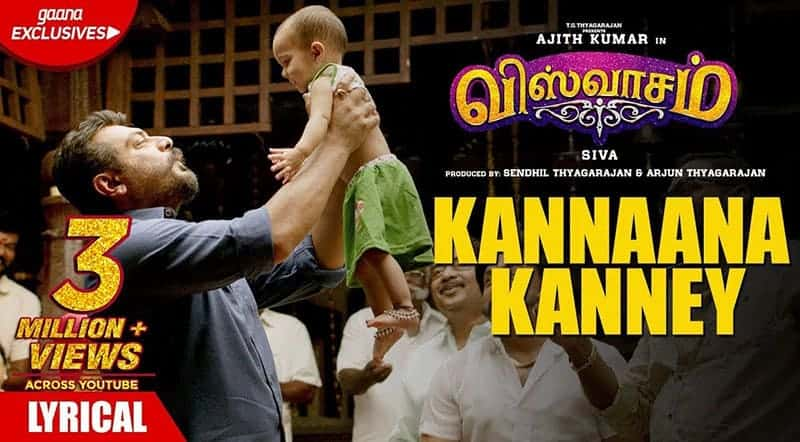 Kannaana Kanney Song Lyrics From Viswasam Tamil Movie