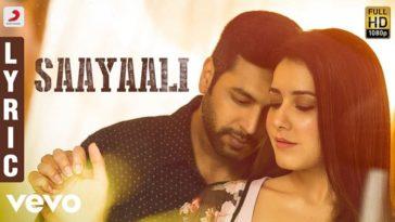 Saayaali Song Lyrics From Adanga Maru